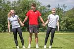 Reprezentační trio: Šárka Kapusniaková, Jakub Kucharik a Kristýna Königová