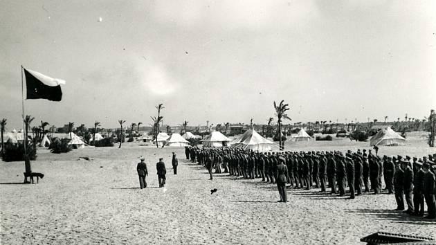 Tábor československého pěšího praporu v severní Africe