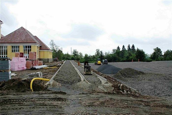 Rekonstrukce hřiště v ašské Okružní ulici.
