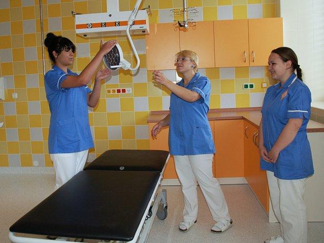 OPRAVENÝ PAVILON chebské nemocnice.