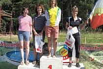 Martina Kamarytová z Mariánských Lázní (vpravo) obsadila v nočním orientačním závodě třetí místo. To jí ale stačilo k k vítězství v přeboru západočeské oblasti.J