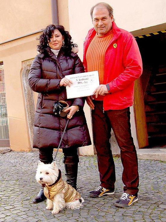 V dalším díle anketní soutěže ´O nejkrásnějšího domácího mazlíčka´ vyhrála fenka Kelly ziskem 270 hlasů chovatelky Marty Turci z Chebu.