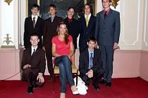 Miss České republiky a studenti chebského gymnázia