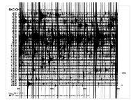 Sobotní seismogram ze seismologické stanice ve Skalné.