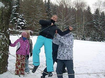 Děti měly možnost si užít dva dny na horské chatě v Kraslicích.