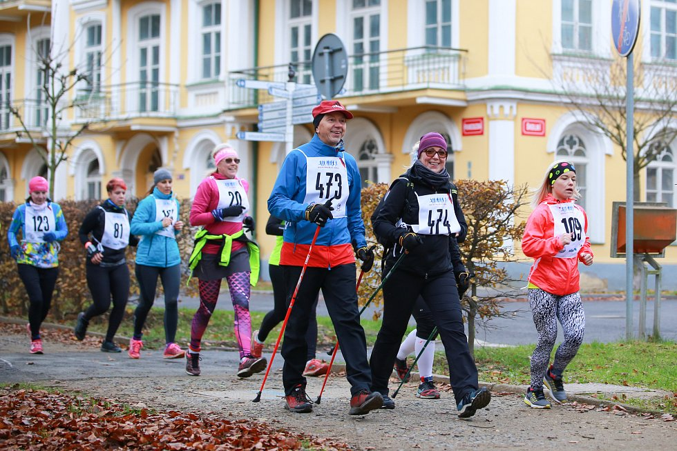 Park patřil běžcům a chodcům. Sportovali pro dobrou věc.