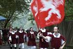 Svatováclavské setkání v Mariánských Lázních letos přilákalo i přes nepříznivé počasí mnoho lidí.