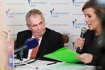 Prezident Miloš Zeman přijel do Milhostova a Nového Kostela.