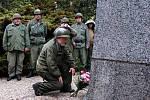 Začátek Jízdy osvobození 1945 - 2009 u Památníku 1. pěší divize US armády na Ypsilonce u Chebu