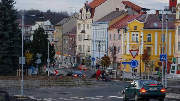 Hlavní ulice v Aši.