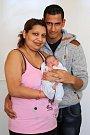 TIMEA ŠOMOVÁ bude mít v rodném listu datum narození středu 20. dubna v 16.06 hodin. Při narození vážila 2 490 gramů a měřila 46 centimetrů. Doma ve Služetíně se raduje z malé dcerušky maminka Ivana a tatínek Jiří.