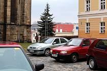 Kostelní náměstí Cheb.