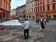 Rekonstrukce pěší zóny v Chebu