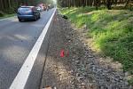 Havárie motocyklu mezi Hazlovem a Aší