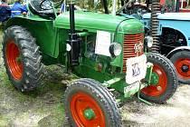 Výstava historických traktorů na Hraničních slavnostech v Lubech 2008