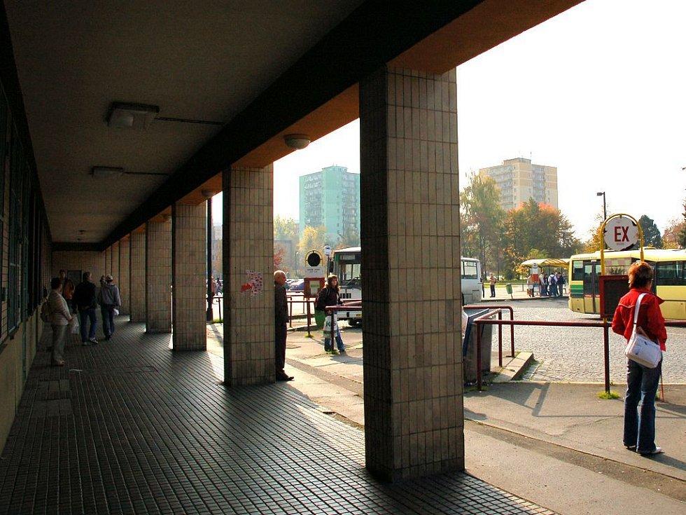 Odjezdová stání pro autobusy MHD Cheb