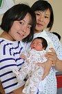 TRAM ANH NGUYEN NGOC se narodila ve středu 9. srpna v 5.38 hodin. Na svět přišla s váhou 3 100 gramů. Doma v Chebu se z malé sestřičky radují sourozenci spolu s maminkou Nguyet a tatínkem Uoc.
