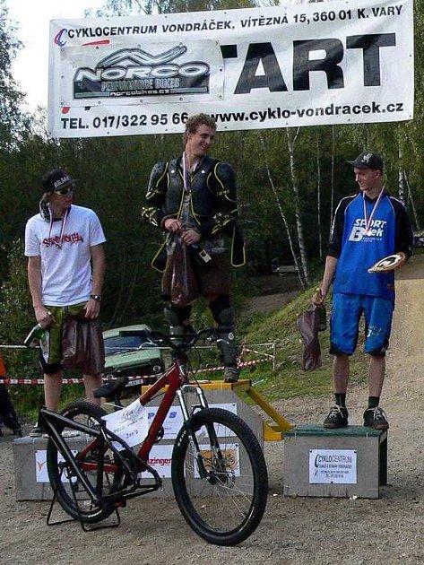 Jakub Mašek (vpravo) vybojoval třetí místo