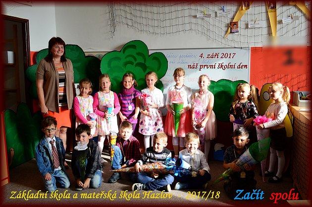 Žáci 1.třídy Základní školy Hazlov