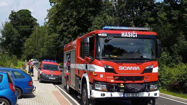 Ze zásahu hasičů v Karlovarském kraji.