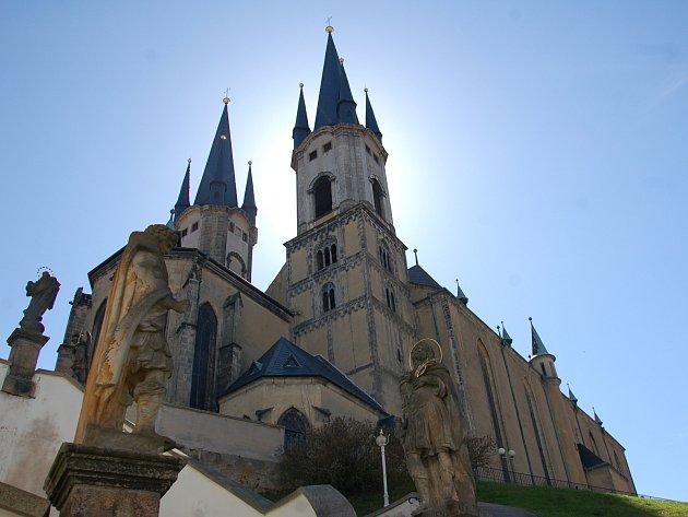 Kostel svatého Mikuláše v Chebu.