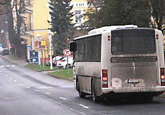 Autobus ve Františkových Lázních