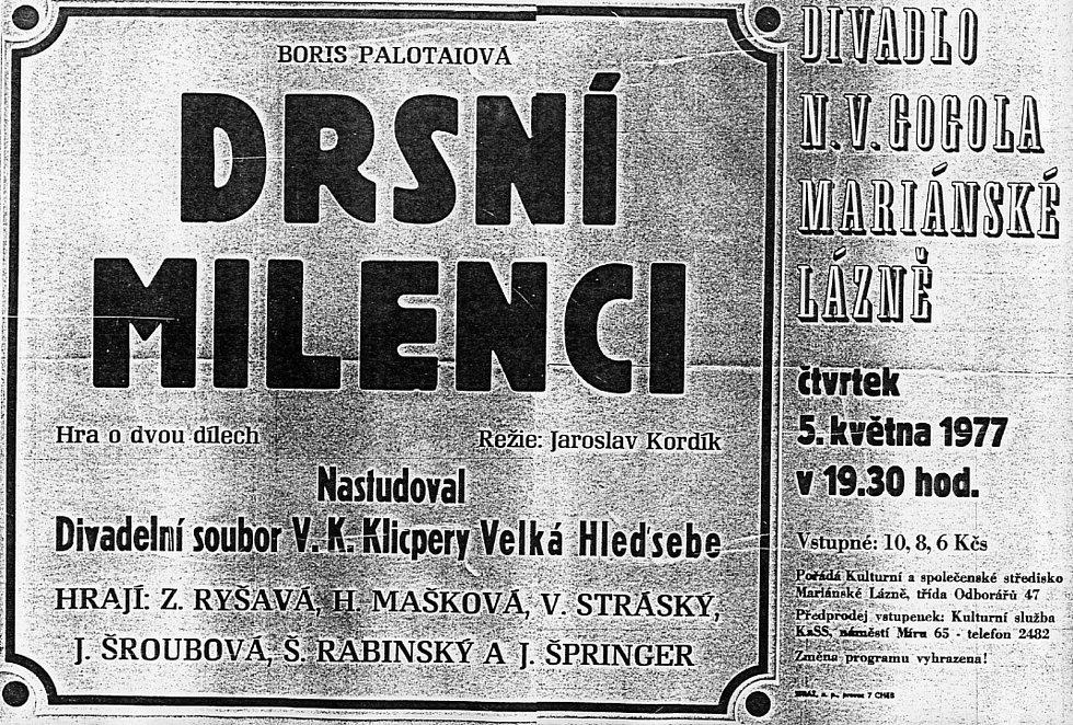 Divadelní spolek Klicpera ve Velké Hleďsebi.