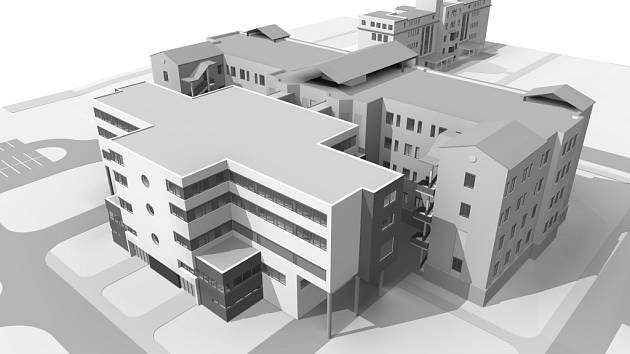 Dostavba chebské nemocnice.