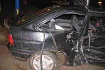 Noční dopravní nehoda z Ašské ulice v Chebu