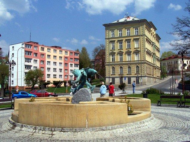 Poštovní náměstí v Aši