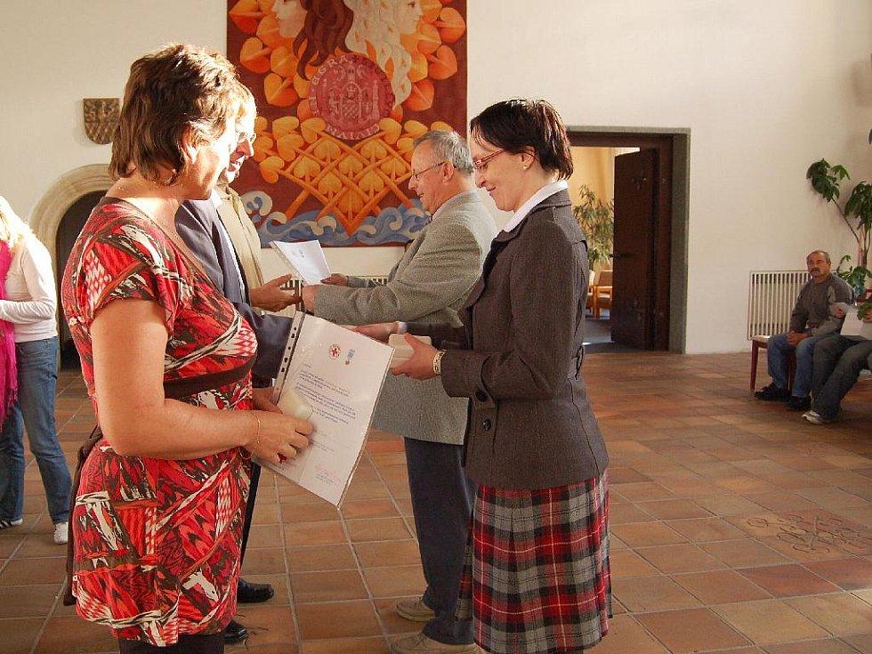 Ocenění chebští dárci krve.