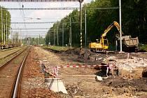Stavební práce na železniční trati mezi Chebem a Lipovou
