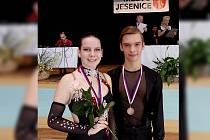 Na taneční soutěži v Jesenici zvítězil pár Jan Horník s Adélou Brňákovou.