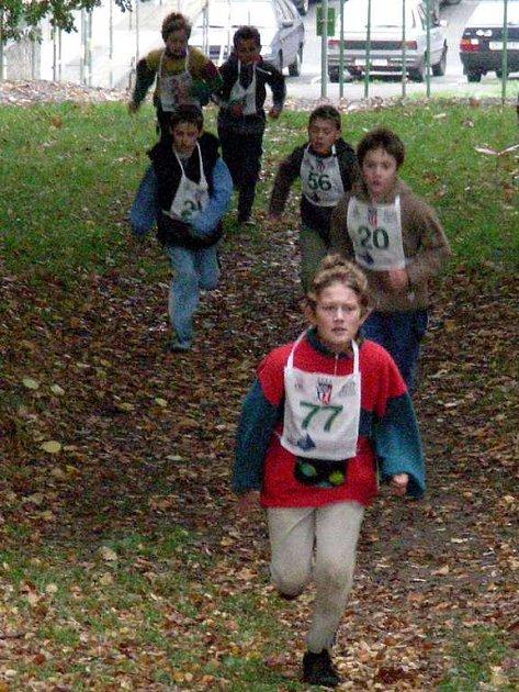 Terénní běh Zlatá míle na Zlatém vrchu v Chebu