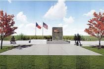 Vizualizace nového umístění Památníku americké armády.