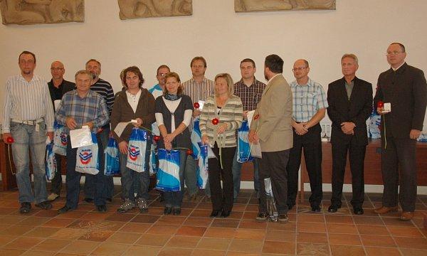 Město Cheb ocenilo dobrovolné dárce krve.
