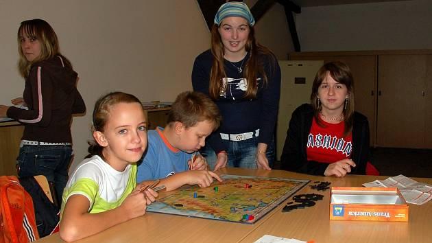 Klubovna deskových her chebského sdružení Rokršti
