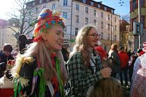 Masopust se v Mariánských Lázních konal po dlouhých letech. Foto: Elena Sorokina