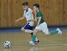 Ve sportovní hale Lokomotivy Cheb se utkaly mládežnické týmy