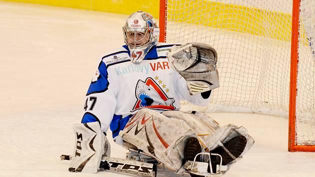 Nejlepší brankář turnaje Bohumír Mach z SKV Sharks Karlovy Vary.
