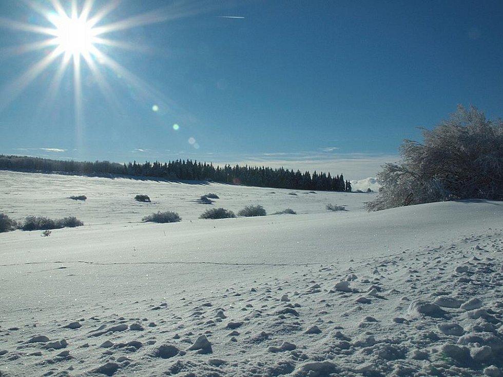 Zima ve Vojenském újezdu Hradiště