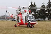 Zkouška nové přistávací plochy pro leteckou záchrannou službu.