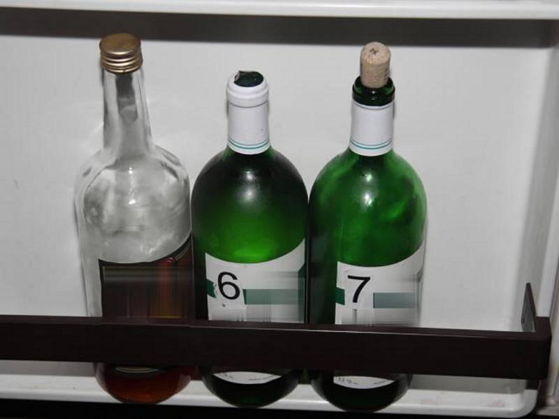 Alkohol ke zkoumání.