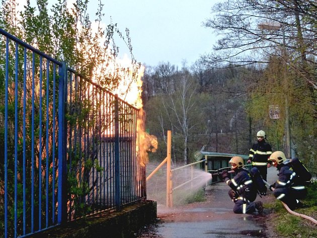 Požár plynu v Karlových Varech – Drahovicích.