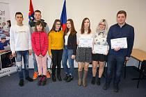 Ocenění vítězové krajské soutěže k bezpečnému internetu.