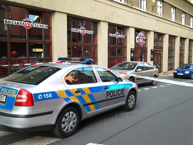Místo střelby v karlovarské ulici I. P. Pavlova.