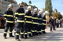 Slavnostní slib hasičů u Thermalu