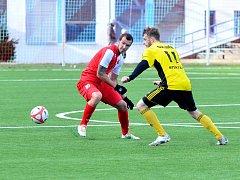 Dominik Mandula, útočník FC Slavia Karlovy Vary nastřílel během podzimu tři branky.