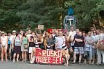 Účastníci demonstrace.