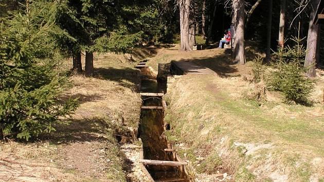 Blatenský příkop v Krušných horách.
